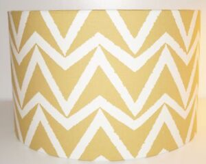 Scion Dhurrie Sauterne Yellow Fabric Drum Lampshade (20 25 30 25 40cm)