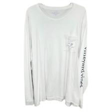 Vineyard Vines Men's White Long Sleeve T-Shirt - 4XB
