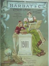 affiche originale  lithographie Barbat  1901 chalons sur marne