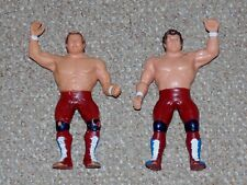 1986 WWF LJN Wrestling Superstars British Bulldog & Dynamite Kid Tag Team Set
