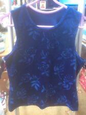 👀🌺*New* WT BHS👀 Size 14 (42) Deep Blue Velour Top👚