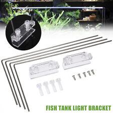 4PCS Stainless Steel Aquarium Stand For Aquatic High LED Light Lamp Tank Holder