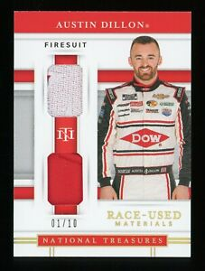 2020 National Treasures Race Used Gold Austin Dillon 2X Firesuit Patch 1/10