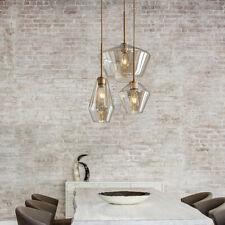 3-Light Modern Cognac Glass Pendant Lamp Chandeliers Lighting Ceiling Fixtures