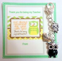 Owl Always Remember You Thank You Gift for Teacher Key Ring Gift Card Wise Owl