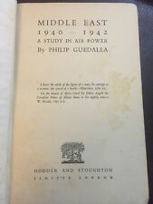 WORLD WAR II Middle East A Study In Air Power 1940-42 1st ed Philip Guedalla