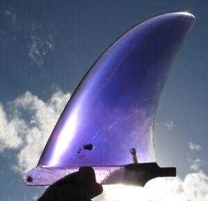 70s Vintage Dick Brewer Hawaii Translucent Purple single surfboard fin LEXAN old