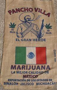 Large Burlap Bag Marijuana Cannabis Weed Man Cave Pub Brand New