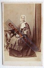 CDV PHOTO JOH. HASSEL KJOBENHAVN nommé femme 1866 77 ans née en 1789