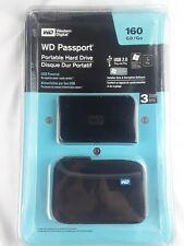 Western Digital WD Passport Portable Hard Drive 160 GB New w/ Case SB 2.0