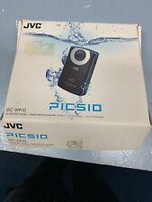 JVC GC-WP10AU Picsio Hd Video Memory Camera Waterproof Blue HD 3m/10ft Used