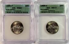 1999 P & D New Jersey State Quarters MS 67 ICG Certified
