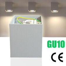 LED Aufbaustrahler Downlight Deckenlampe Wandleuchte Lampe GU10 CE 230V Silber