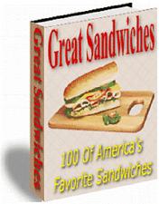 100 great homemade sandwich Recipes eBook on CD Rom