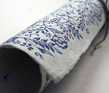 """Handmade Paper Sheets -  Blue Garden Lotka Fiber  20"""" x 30"""""""