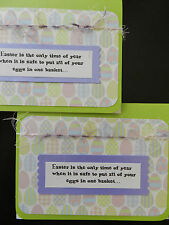 """NEW - """"EASTER"""" Greeting Cards (Set of 2) CUTE - Hand Crafted Handmade in USA"""