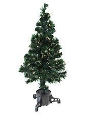 90cm Warm White Fibre Optic Christmas Tree Xmas Festive Pre-Lit Decoration
