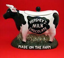 Cookie Jar - HERSHEY'S Milk Chocolate Ceramic Cow Cookie Jar 1998  NIB