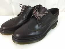Mens Dr. Martens 11 Brown 3989 Leather Shoes Brogue Lace Up Oxford Wingtip Doc