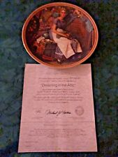 """New ListingNorman Rockwell Plate """"Dreaming In The Attic"""" Rediscovered Women Collection"""