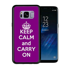 Purple Keep Calm and Carry On For Samsung Galaxy S8 Plus + 2017 Case Cover by At