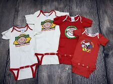 Vintage 1980's 1990's Dundee Bodysuit Lot Usa Made Baby One Piece Christmas