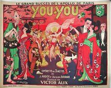 You- You Operetta Art Nouveau style   Vintage Poster   A1, A2, A3