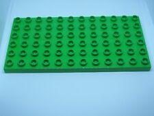 LEGO DUPLO @@ PLAQUE 4196 @@ PLATE 6 X 12 TENONS @@ VERT CLAIR BRIGHT GREEN