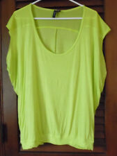 Relativity Hot Yellow Green Scoop Neckline Tunic Top  Size Large to XL