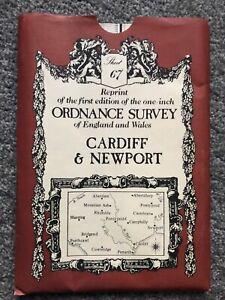 Cardiff & Newport One Inch Ordnance Survey Map (reprint) Sheet 67