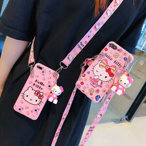 3D cartoon Hello kitty Case For Samsung galaxy S20 S10 Note10 Plus Protect Cover