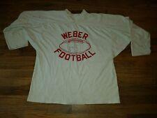 Vintage WEBER Practice NCAA Football Jersey Cotton RARE Old School Long Sleeve
