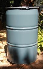 STEEL BARREL 55 GALLON- FOOD GRADE Open Top Plastic Cover/Gasktet & Ring Clamp