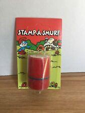 Vintage Smurfs Stamp-A-Smurf Papa Smurf Self Inking Stamp Nip Ganz Unpunched