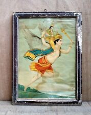 Hindu Lord God Garuda With Vishnu Ritual Ravi Varma Rare Print Antique