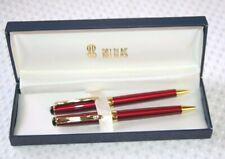 Bill Blass Manhattan Pen and Mechanical Pencil Set Burgundy & Gold 231-3 NEW
