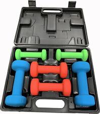 6kg Dumbbell Weights Set Ladies/Aerobics Gym Class/Workout Dumbells Kit