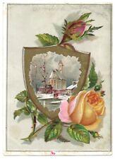 """LION COFFEE"" (1885) ""CHRISTMAS TRADE CARD"" Snow Bud *WOOLSON SPICE Toledo, Ohio"