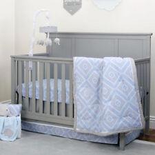 NoJo Dreamer Diamond 3-Piece Crib Bedding Set in Blue/Grey - Tribal