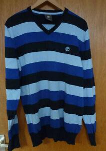 Timberland Pullover dunkelblau hellblau gestreift L 52 54 neu