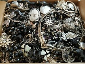 HUGE 14 lbs Vintage Mod Wearable Jewelry LOT Necklaces Bracelets Brooches Rings+