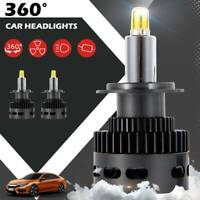 2X Voiture 50W 18000LM H7 LED Reconstruction Phare KIT 6500K Ampoules Xenon G
