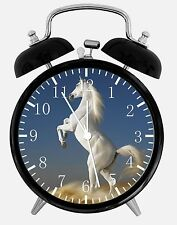 "White Horse Alarm Desk Clock 3.75"" Home or Office Decor W417 Nice For Gift"