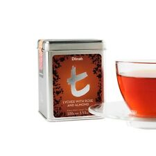 Dilmah  Lychee with Rose and Almond 100g Ceylon Loose Leaf Tea Tin Caddi