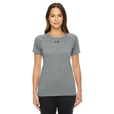 Under Armour Women's LARGE Locker T-Shirt, True Gray Heather Athletic $23 NWT