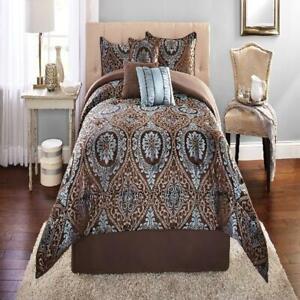 Mainstays Victoria Jacquard Comforter Set, 7 Piece King