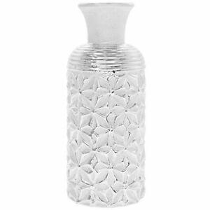 Lesser & Pavey Silver Art Vase Display Ornament Decor Tabletop Flower: 25.5cm