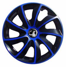 Set of 16'' Wheel trims hubcaps for Vauxhall Vivaro - black / blue