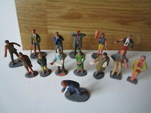 lot 14 figurines Vintage Scalextric Figurines spectateurs