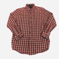 Pendleton Men's Sz M Canterbury Cloth Shirt Wool Blend Button Down Plaid